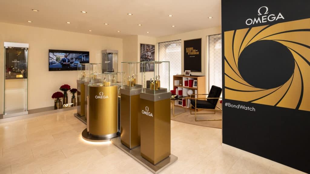 assets Magazin: Omega Boutique, James Bond Ausstellung